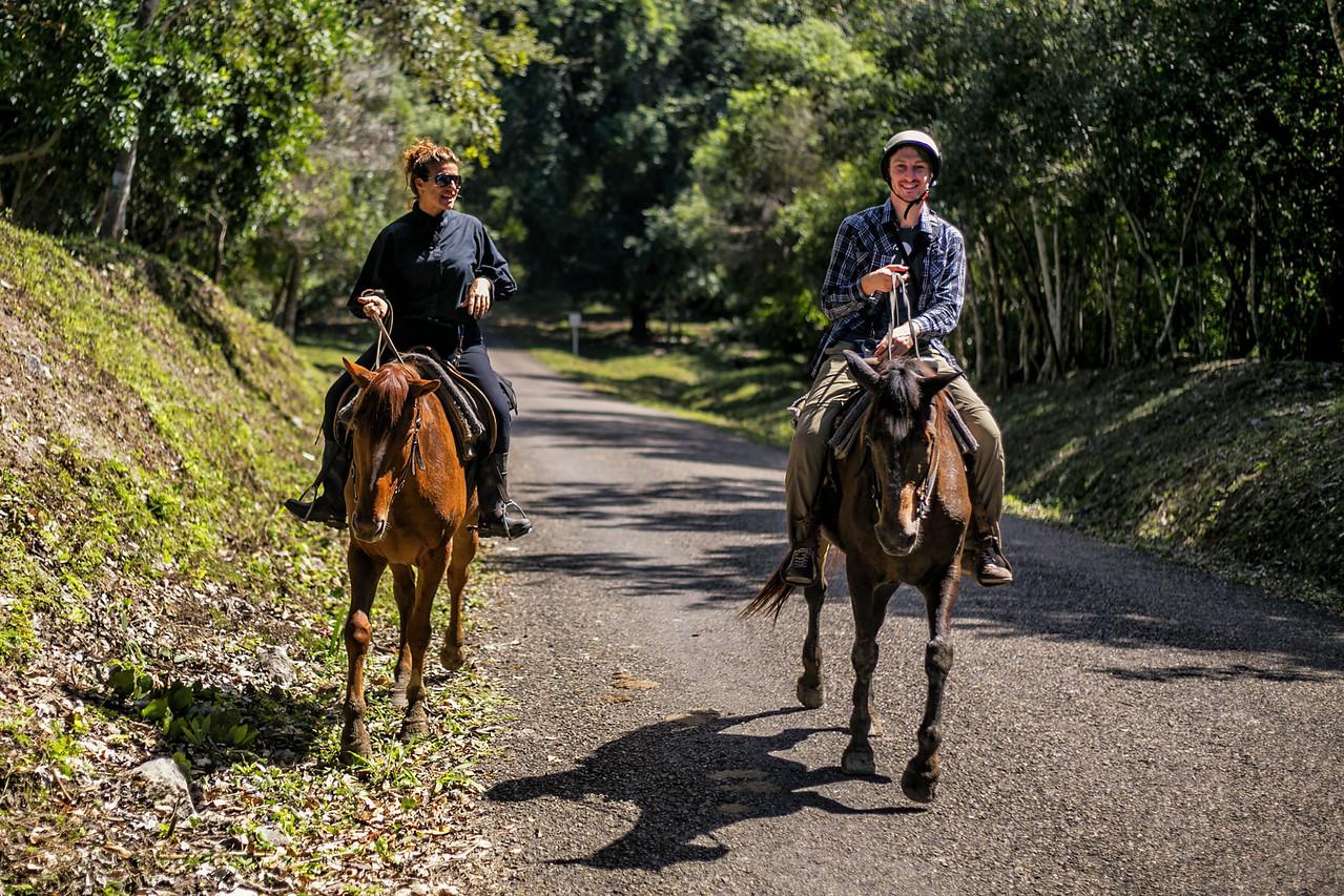 Horseback Riding to Xunantunich in Belize