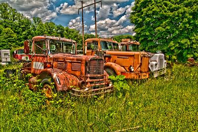 Truck Graveyard in HDR