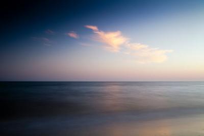 Seascape, Spain. Long exposure shot.