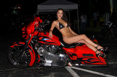 Natasha at  Bike Night