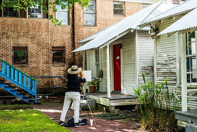 Artists on location at Project Row Houses