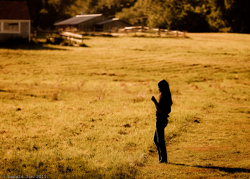 Day 353: In Her Environment<br /> Dani, my thirteen year old daughter dreams about living in a farm with acres of wide open field where she can raise animals and ride her horses.  I pray she realizes that her dreams are all within her grasp.