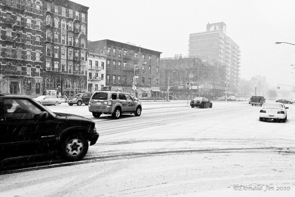 Day 145: East Houston<br /> East Houston Street in a snow storm.
