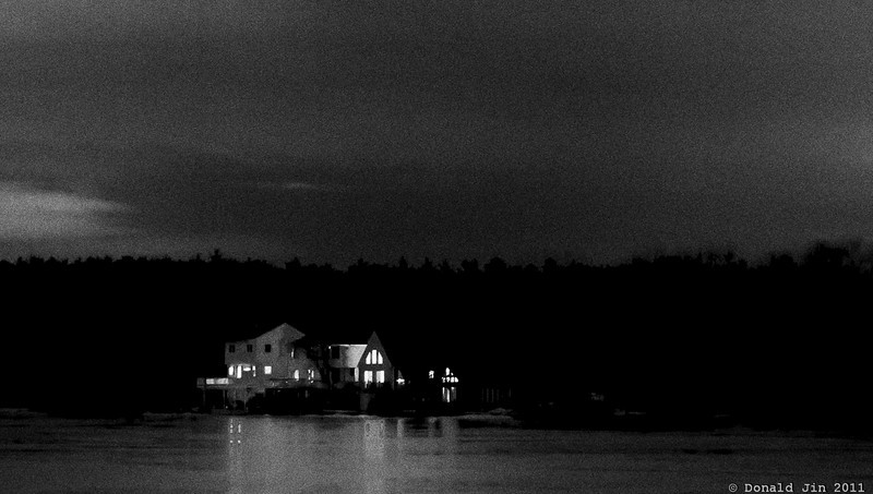 Day 196: Lake House<br /> I've always wanted a house on a lake like the one in this photo.  I've seen this house many times before but always from across a lake.  It's a beautiful house, perfectly situated on a quiet lake, without too many distracting neighbors.