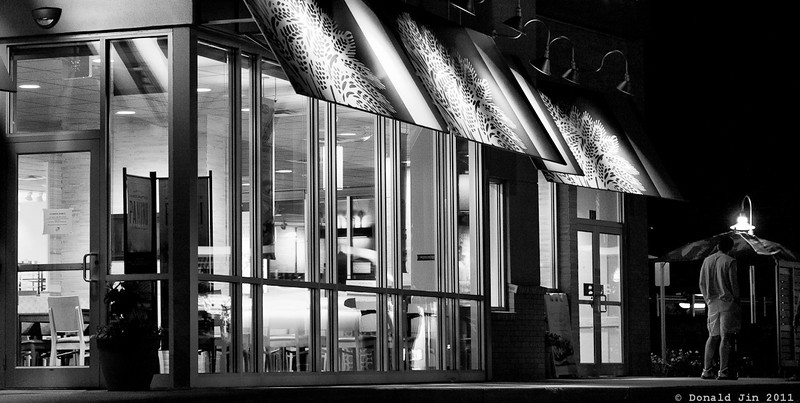 Day 305: The Closing Hour<br /> Not much of a subject but I liked the way the inside and the outside of this sandwich shop was lit.