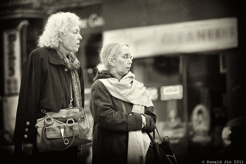 Day 264: Late Again<br /> Two ladies wait patiently for a train that is way overdue.