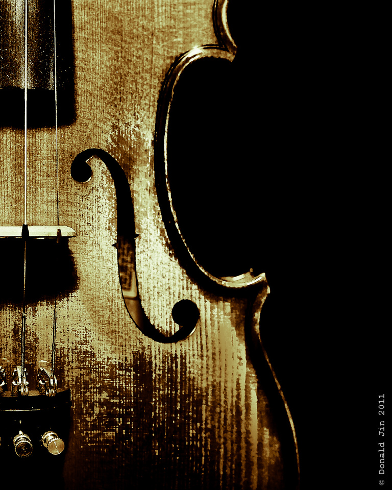 Day 234: American Fiddle<br /> Alex has been playing a lot of folk and bluegrass on his violin.  I thought it was more fitting to call his instrument a fiddle and add a touch of character through post-processing magic.