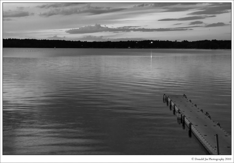 Day 7: Lake Massapaug<br /> It was almost 8pm and once again, I didn't have any idea for today's photo.  On the way home from work, I stopped at Lake Massapaug in Sharon.  I pass by this lake almost everyday and never stopped to take a photo.  I'm glad I did tonight.  I might come back tomorrow with my tripod and try the same shot over again.