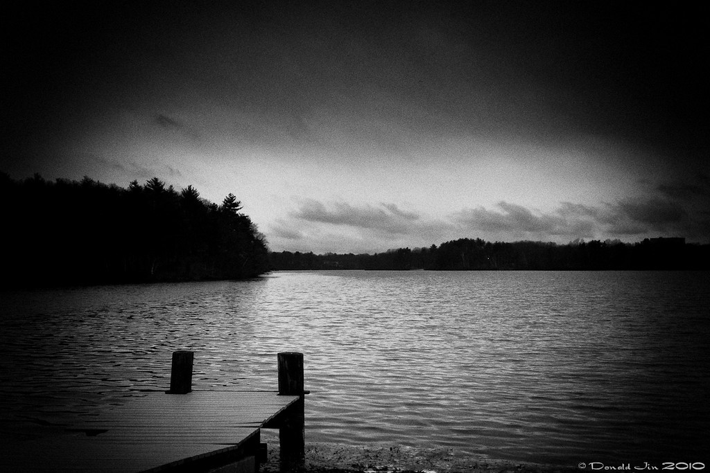 Day 131: Monday, Monday<br /> A dark, rainy day at Lake Cochituate