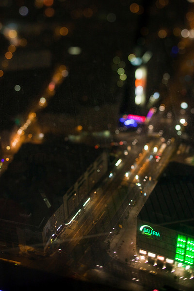 Aerial view of Alexanderplatz from the TV Tower, Berlin, Germany. Tilted lens used for a shallower depth of field and to create, combined with the aerial view, a miniaturization effect.