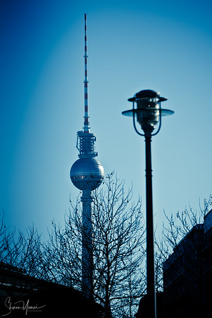 The TV tower at Alexander Platz, Berlin, Germany