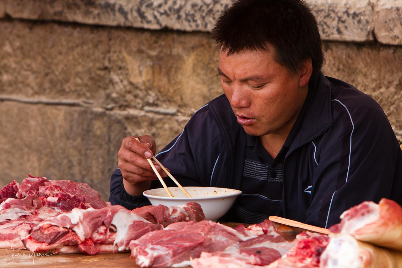 Lunch Break, Yunnan, China