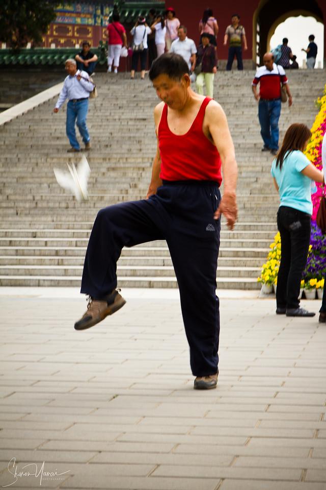 כדור נוצה סיני, מקדש השמים, ביג'ינג