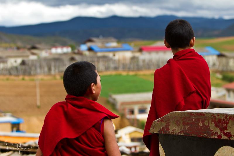 נזירים בודהיסטים, שנגרילה, יונאן, סין