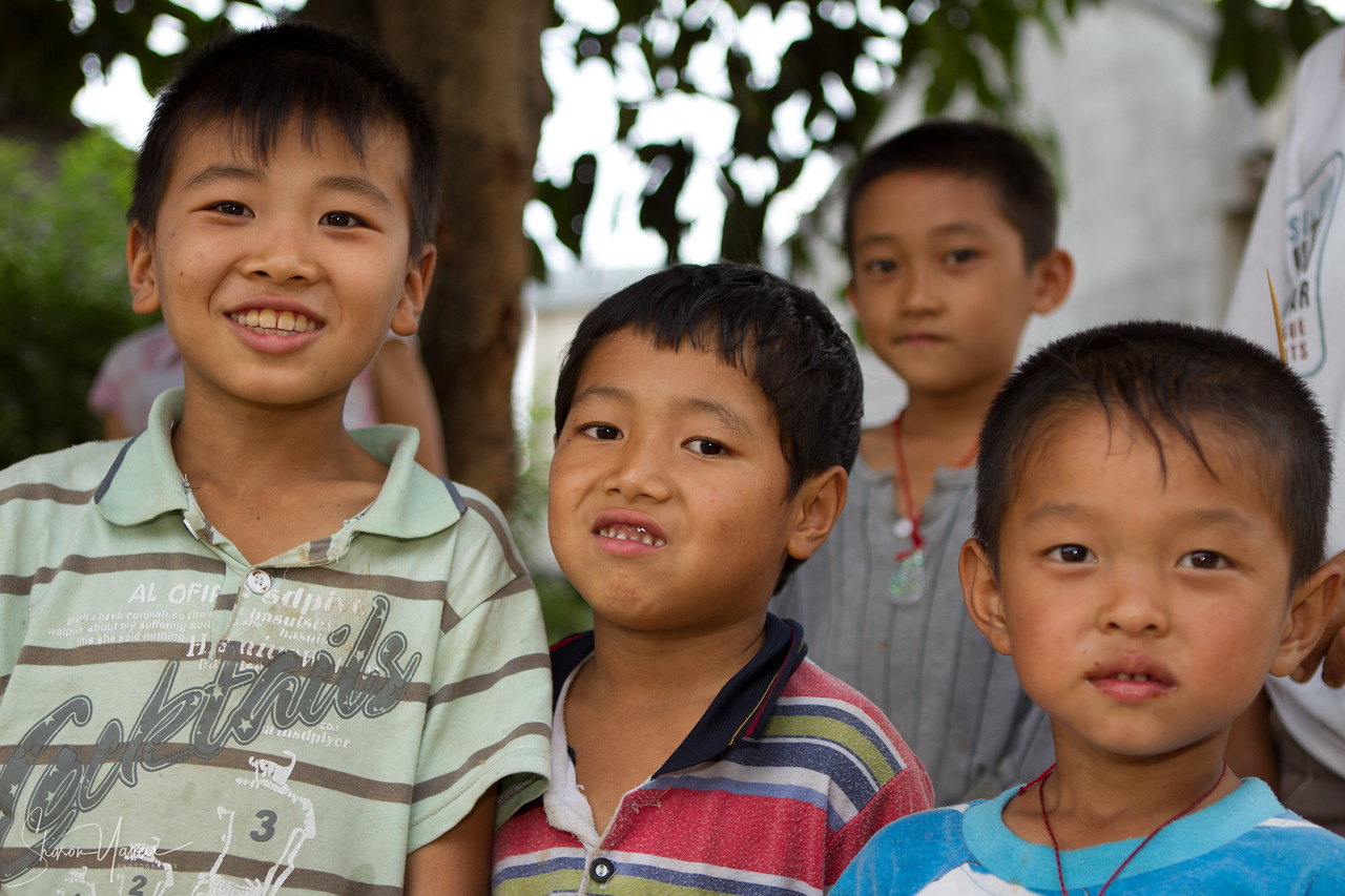 Kids photo shoot, China