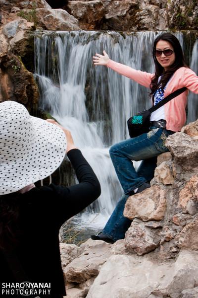 Taking a Photo at the Lijiang Park, China