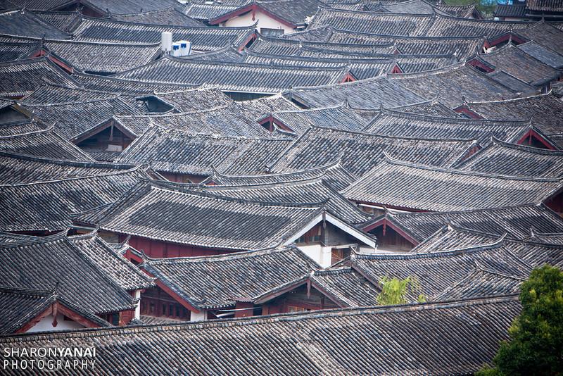 Lijiang Roofs, China