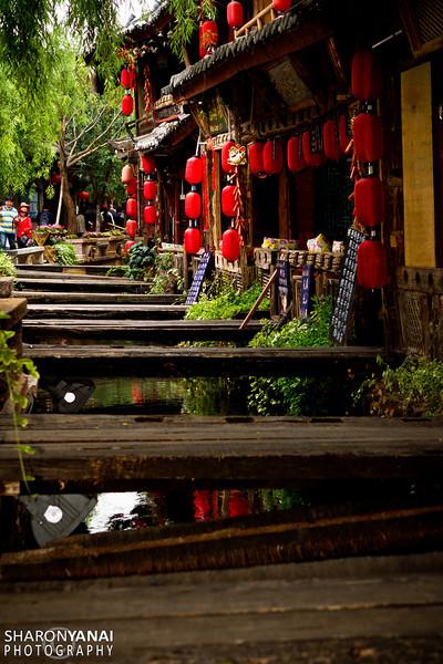 Lijiang Old Town Street, China