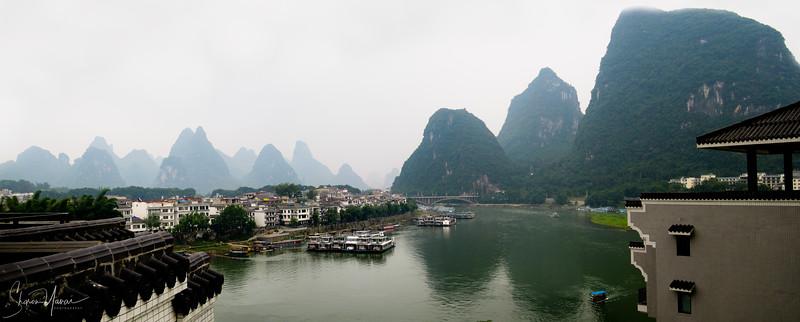 הנוף מהחדר במלון, יאנגשו, סין
