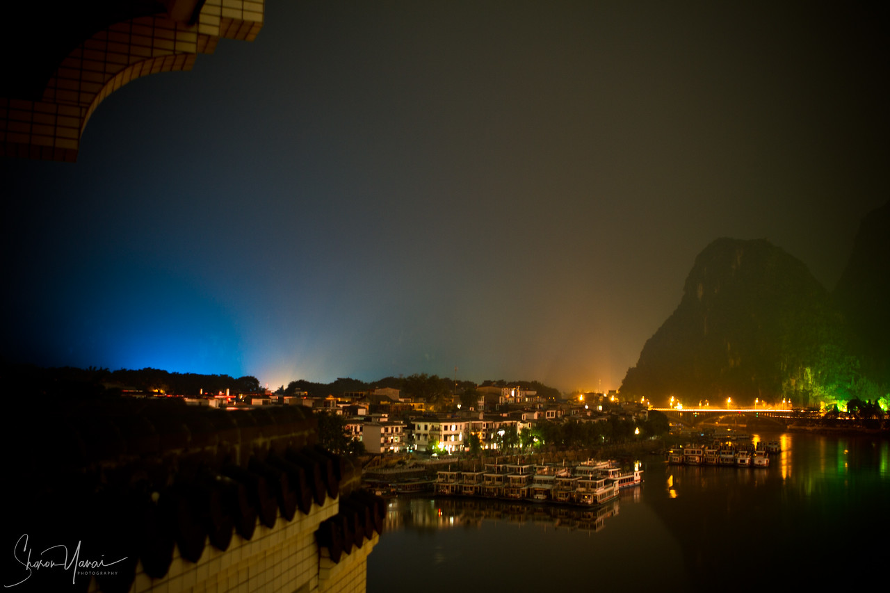 The View From The Hotel Room, Yangshuo, China