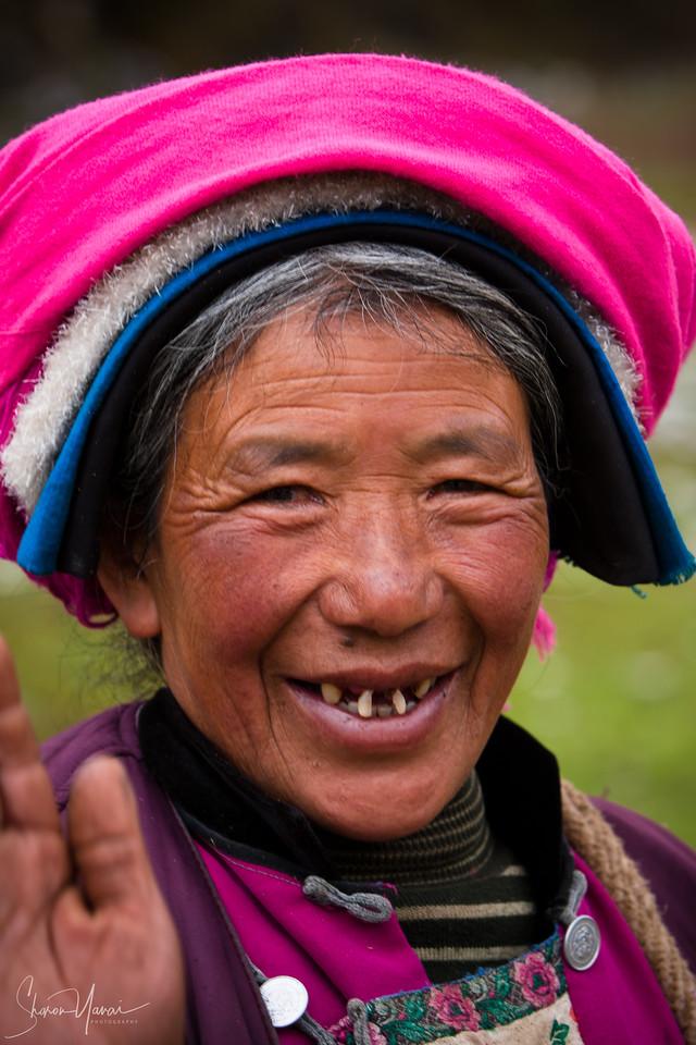 Tibetan Farmer on the Shangrila Mountains, China
