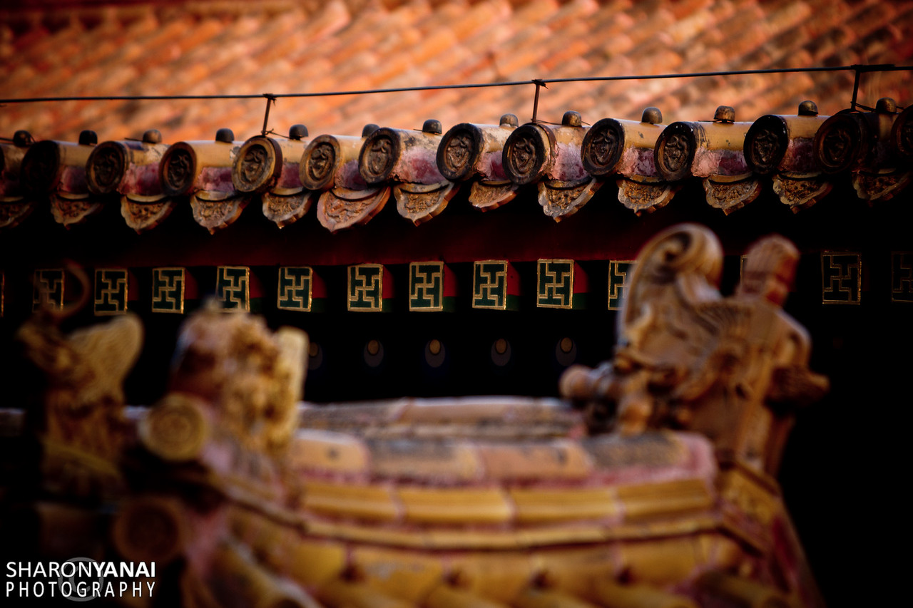 Decorated Chinese Roof, Beijing, China