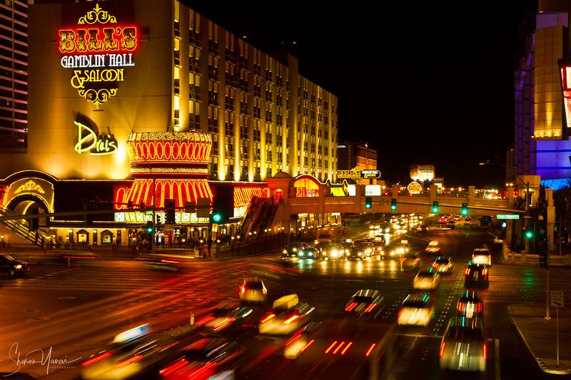 Night over the strip, Las Vegas, Nevada, USA