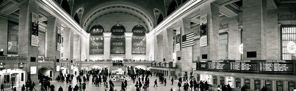Panorama photo of the Grand Central station, Manhattan, NY, USA