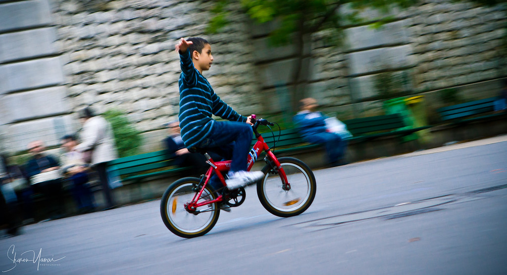 Boy on bike, Streets of Paris, Paris, France