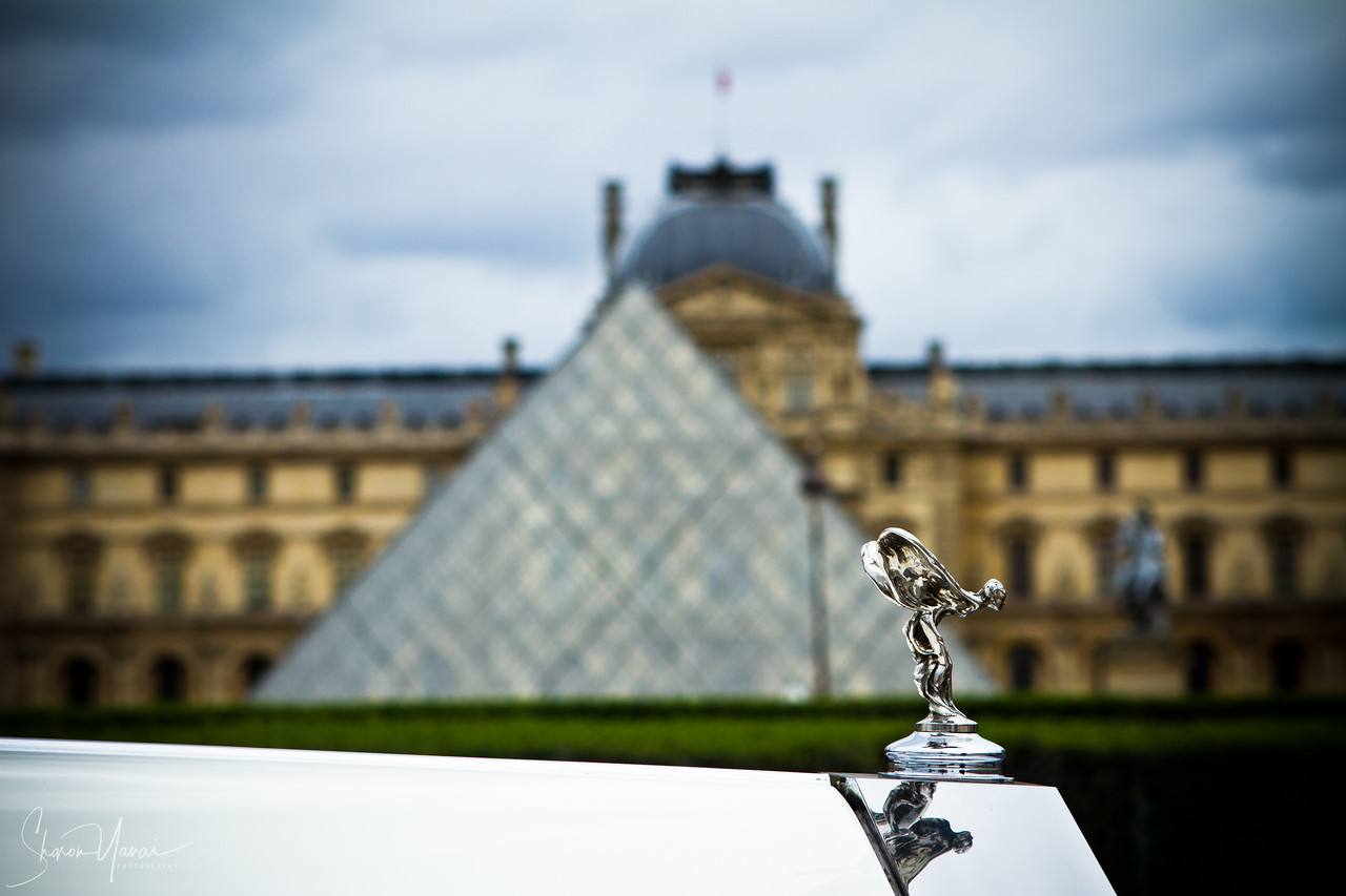 Rolls Royce car in front of the Louvre, Paris, France