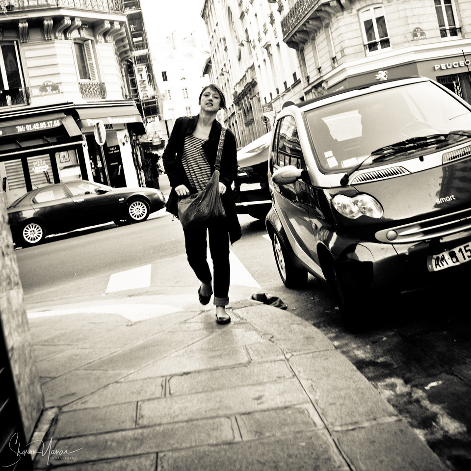 Streets photography - woman on the streets of Paris, Paris, France