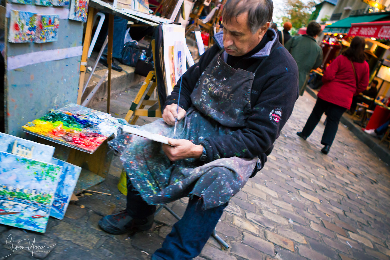 Painter at the Montmartre, Paris, France