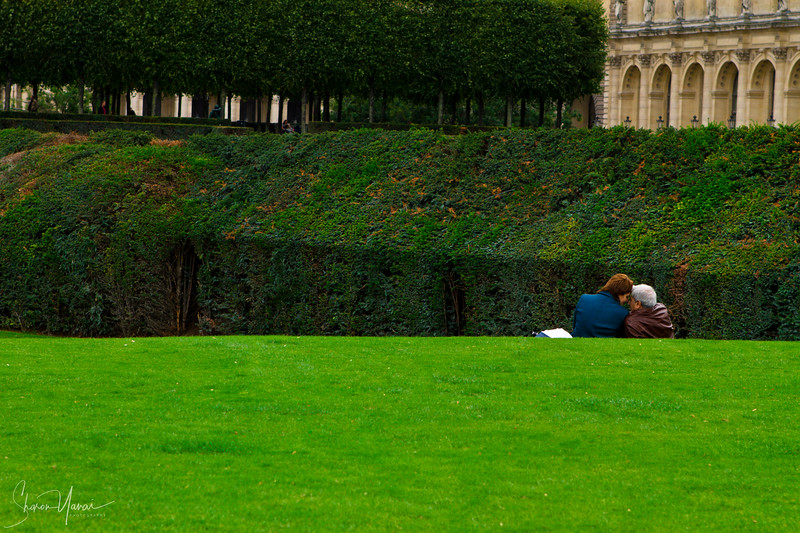 Loving couple dating, Paris, France