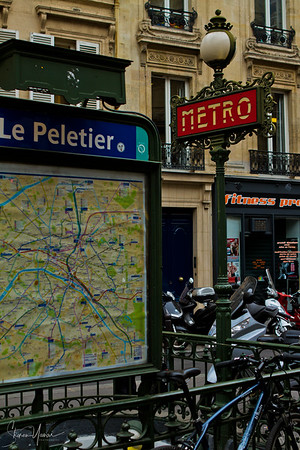 Metro station, Lafayette street, Paris, France