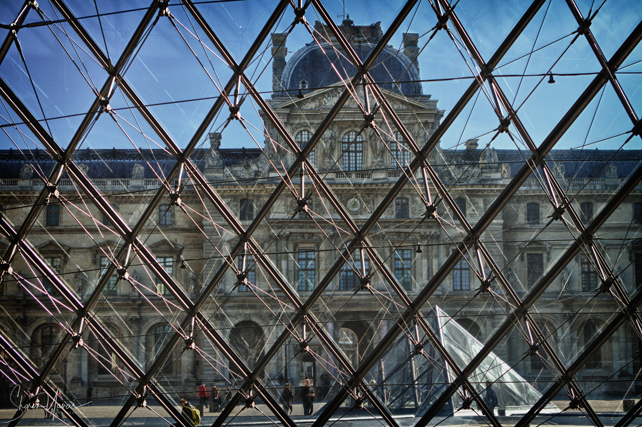 Louvre entrance, Paris, France