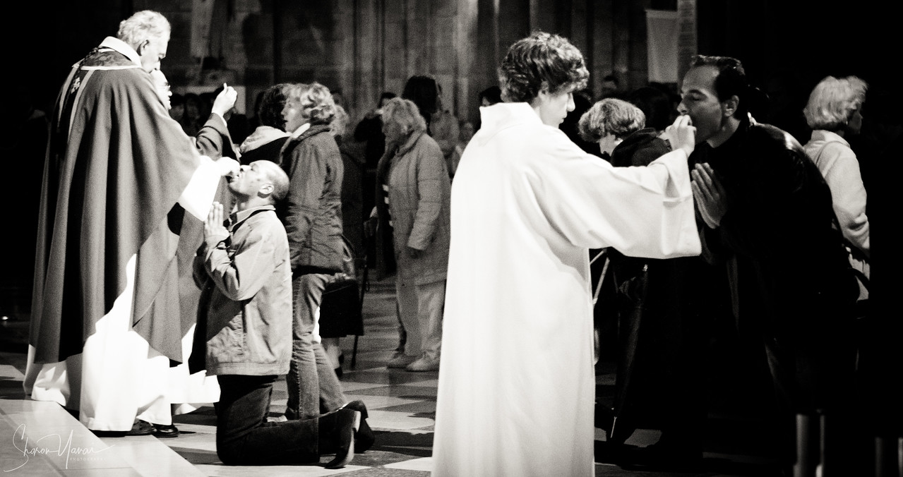 Mass at the Notre Dame, Paris, France