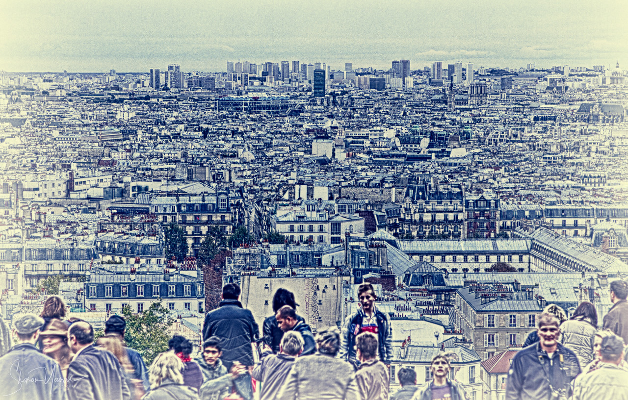 Surreal view of Paris, France