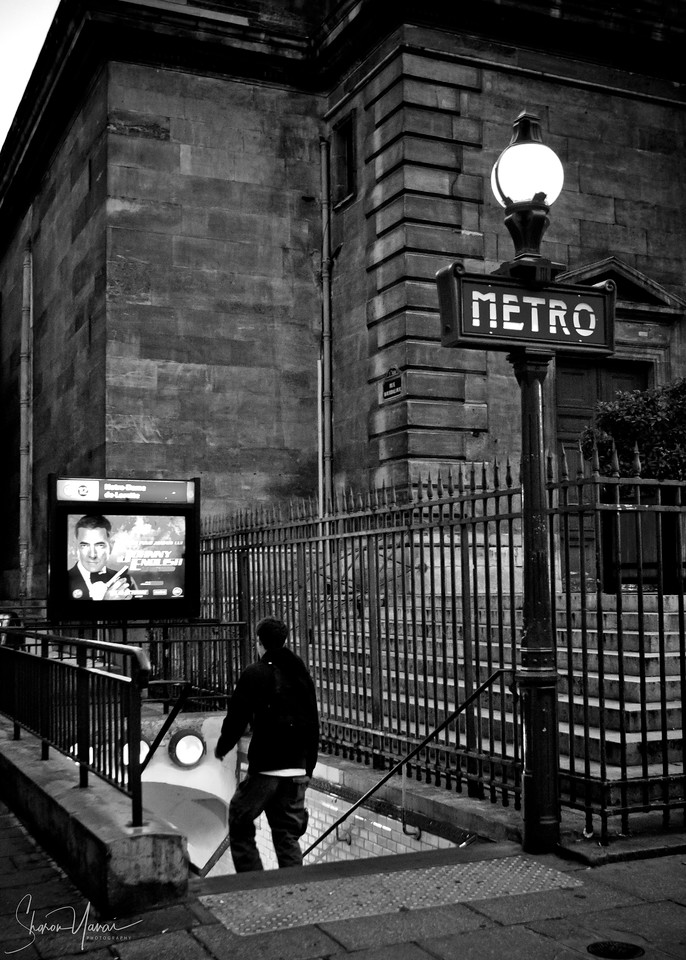 Metro station, Rue La Fayette, Paris, France