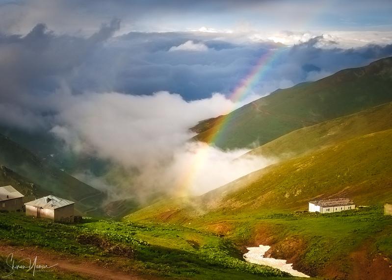Rainbow over the Kachkar mountains, Turkey