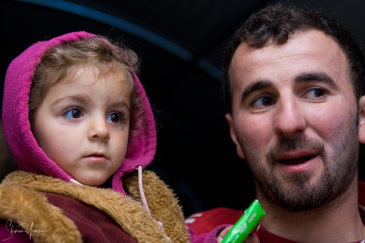 Girl and her father, Kachkar, Turkey