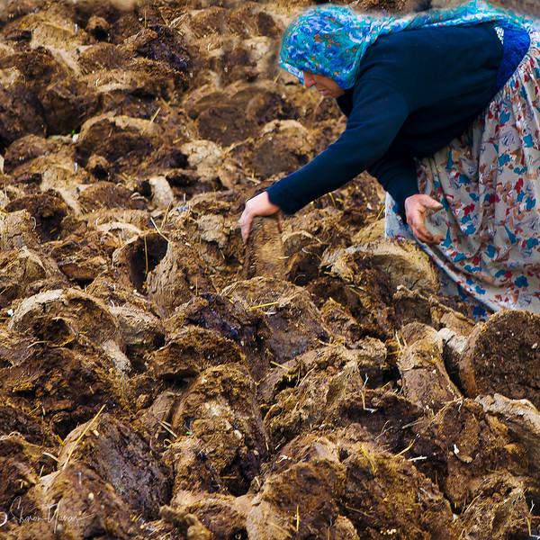 Woman working in the village, Kachkar, Turkey