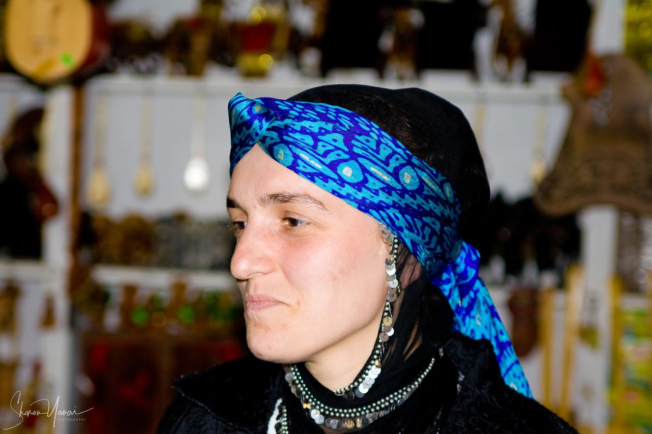 Chamlihemsin - A woman at her shop, Kachkar, Turkey