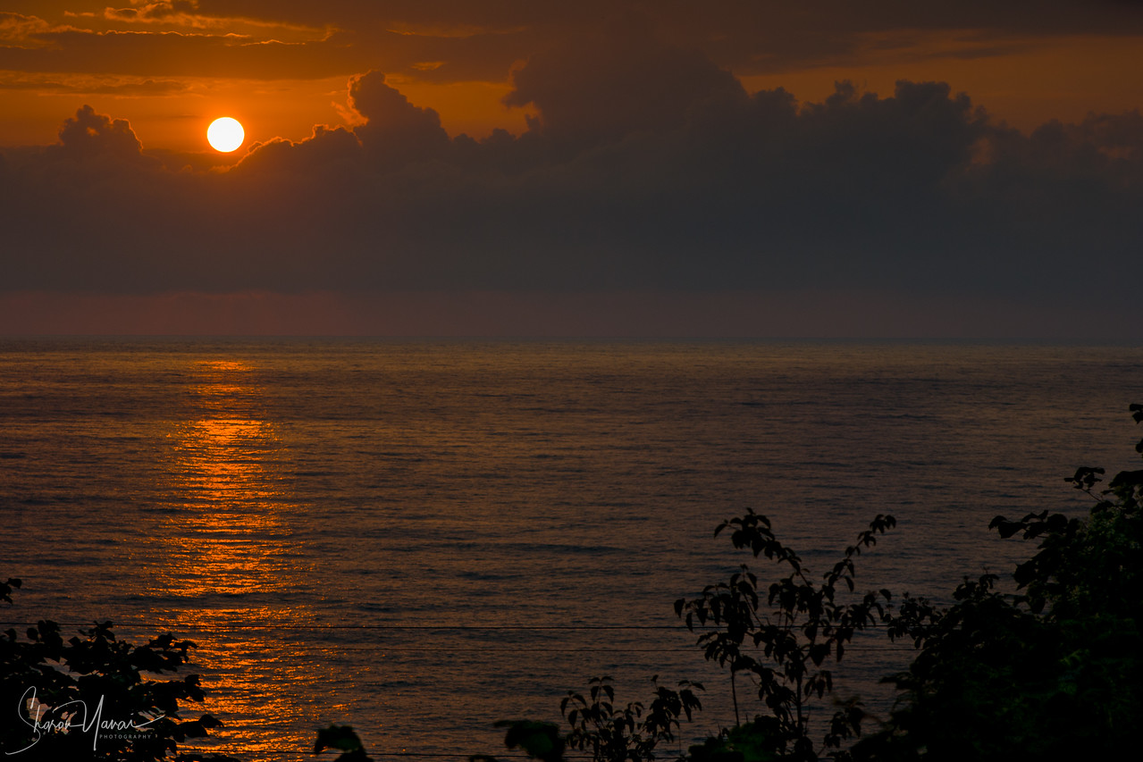 Sunset over the black sea, Trabzon, Turkey