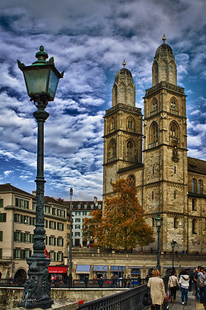 Zurich, Switzerland - The old famous cathedral (HDR)