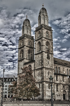 Zurich, Switzerland - The famous cathedral