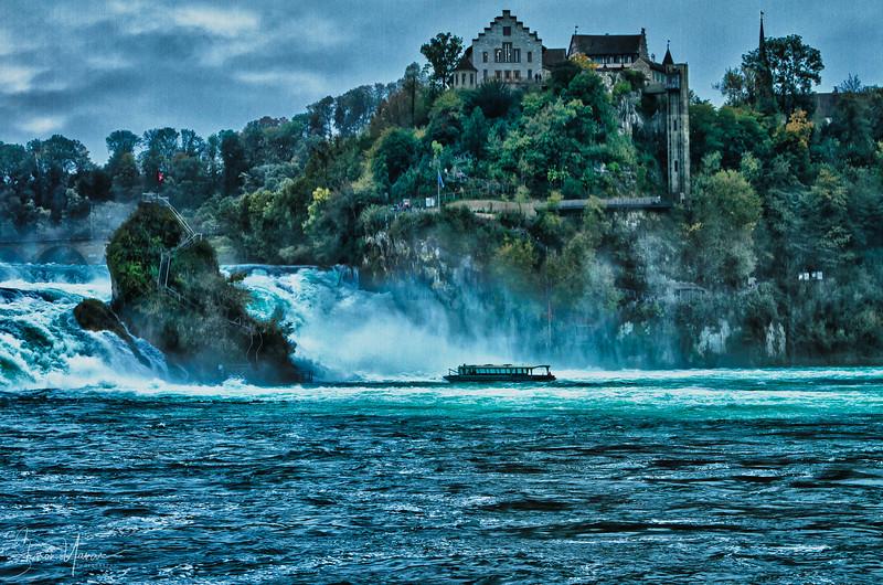 The castle over the Rhine falls, Switzerland