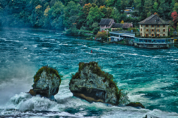 Postcard of the Rhine falls, Switzerland