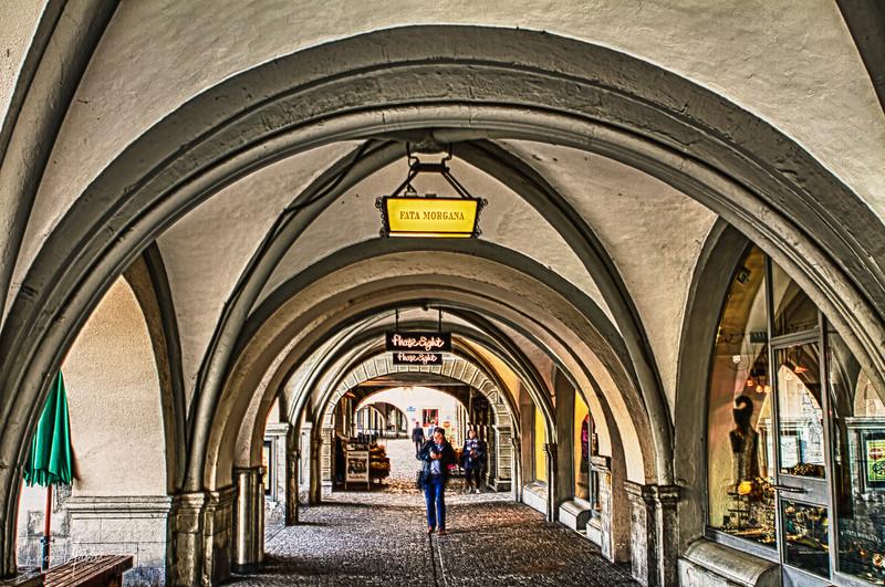 Arcs at the old town of Zurich, Switzerland