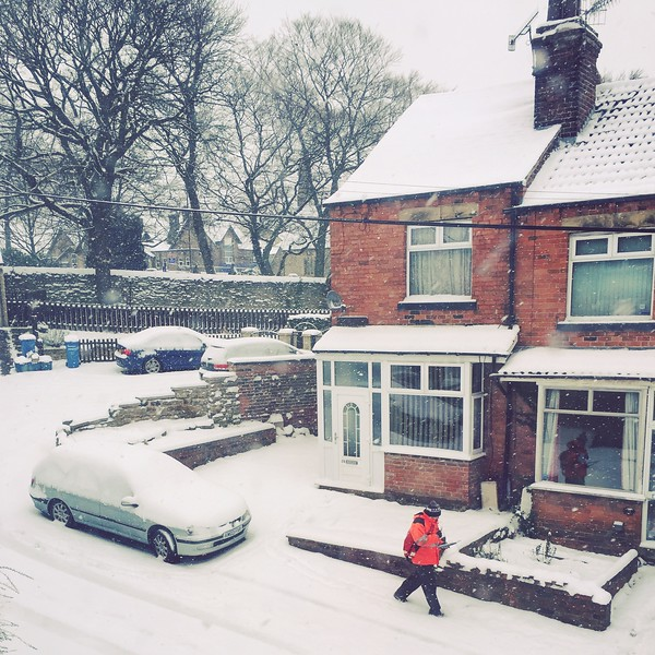 Postie in the Snow, Chapeltown