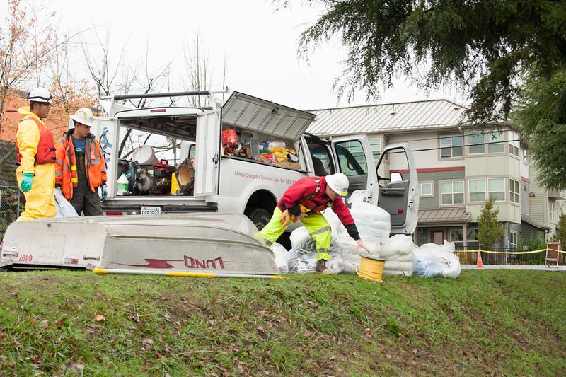 Oil Spill White Center Neighborhood Pond
